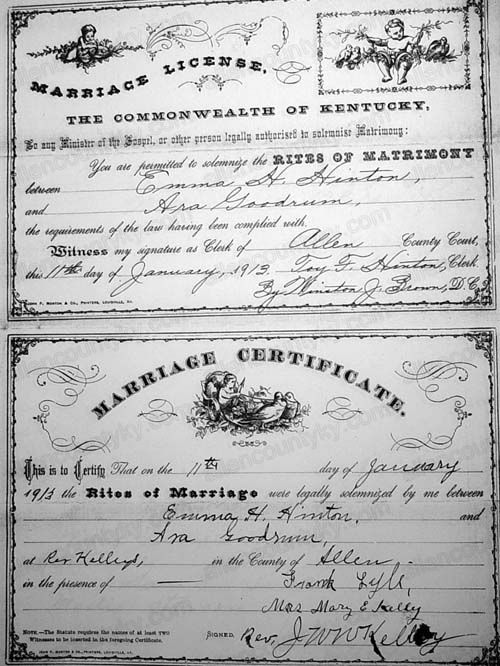 1913 Marriage Records